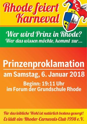 Prinzenproklamation (PriPro) 2018