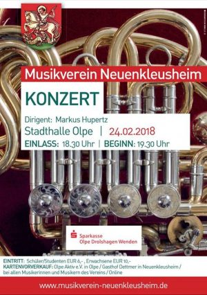Konzert des Musikverein Neuenkleusheim @ Stadthalle Olpe | Olpe | Germany