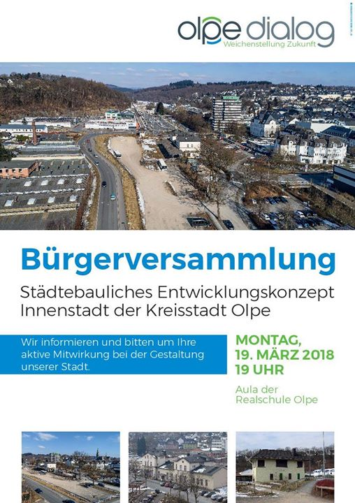 Olpe Bürgerversammlung Städtebauliches Entwicklungskonzept Innenstadt