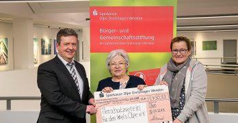 Sparkassen-Stiftungserträge für Tierheim Olpe