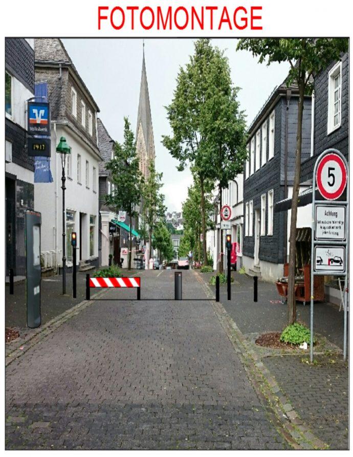 Fotomontage Polleranlage Olpe Frankfurter Straße