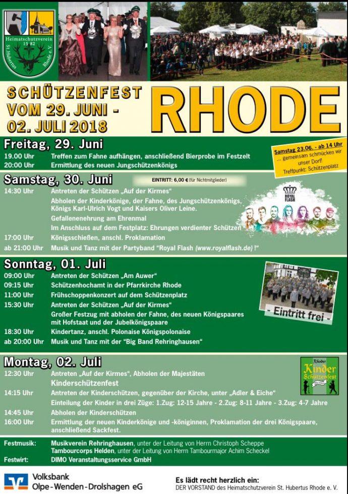 Schützenfest in Rhode @ Olpe - Rhode | Olpe | Nordrhein-Westfalen | Deutschland