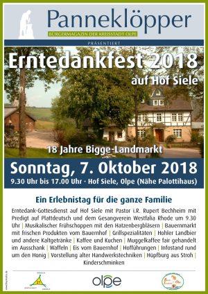 Erntedankfest 2018  auf Hof Siele @ Hof Siele Olpe | Olpe | Nordrhein-Westfalen | Deutschland