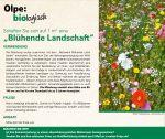 Blumensamenaktion - Olpe biologisch