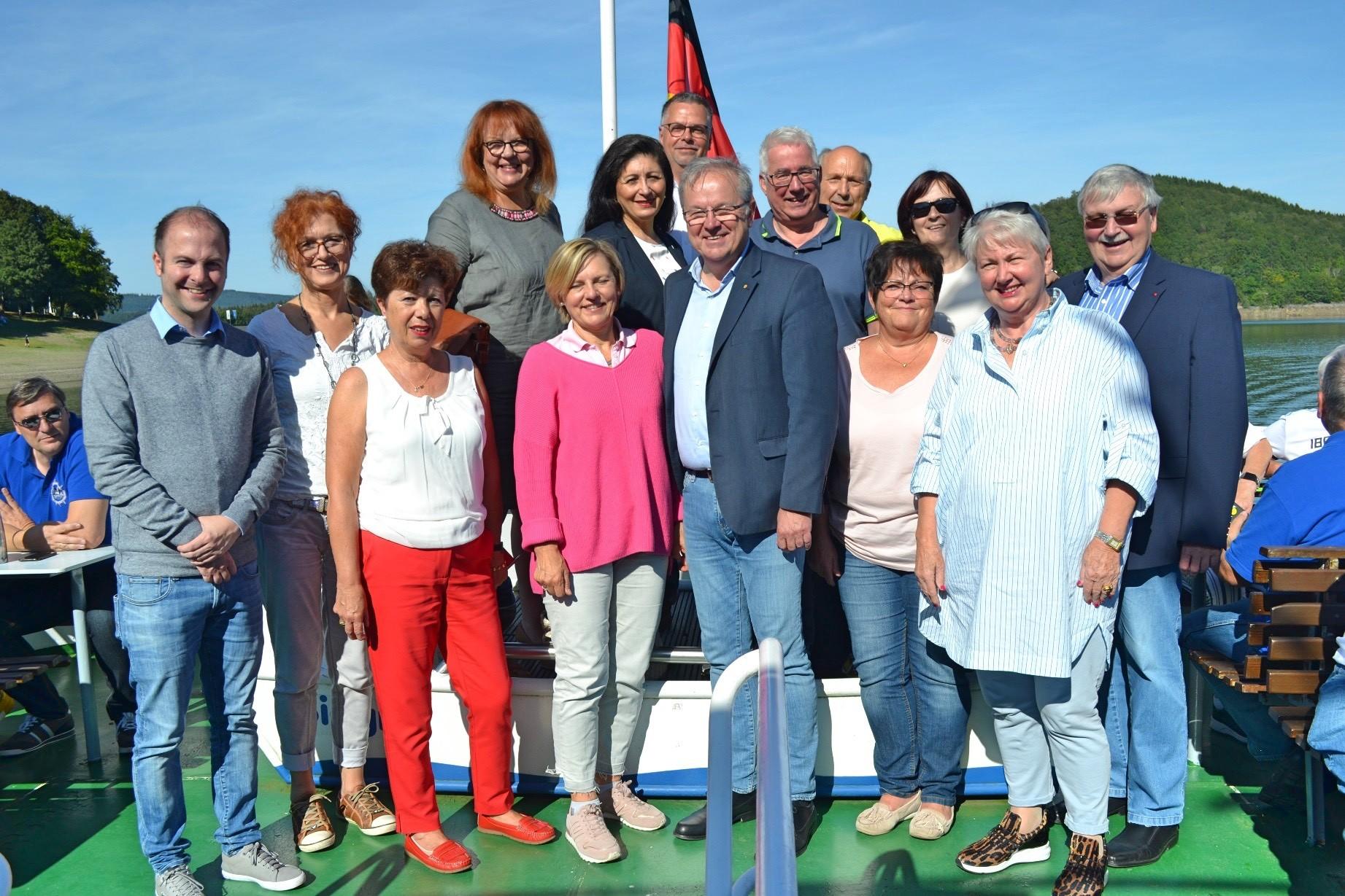 Treffen der SPD-Kommunalpolitiker aus Siegen und Olpe beim Biggesee-Treff
