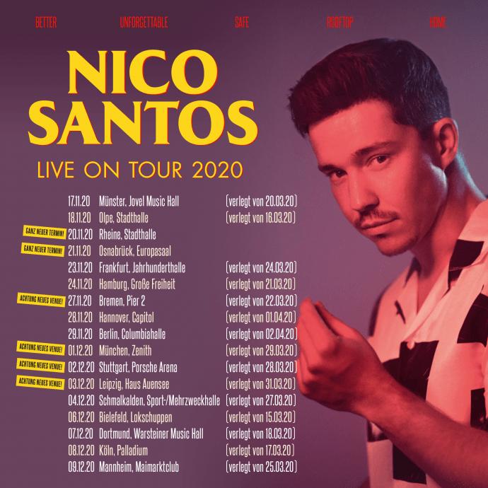 Nico Santos Tour 2020 - Stadthalle Olpe