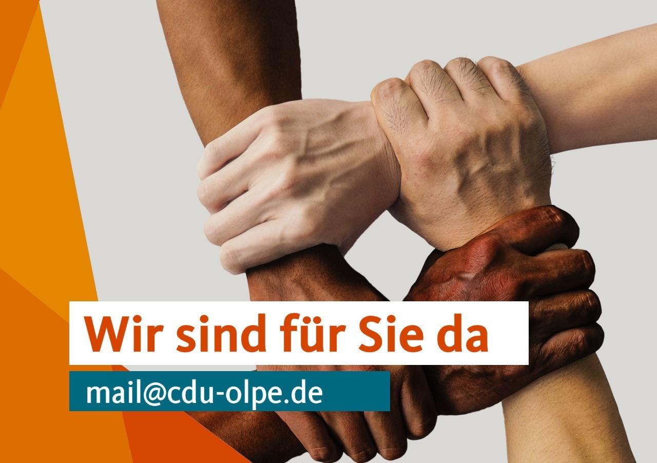 """CDU Olpe: """"Wir sind für Sie da"""""""