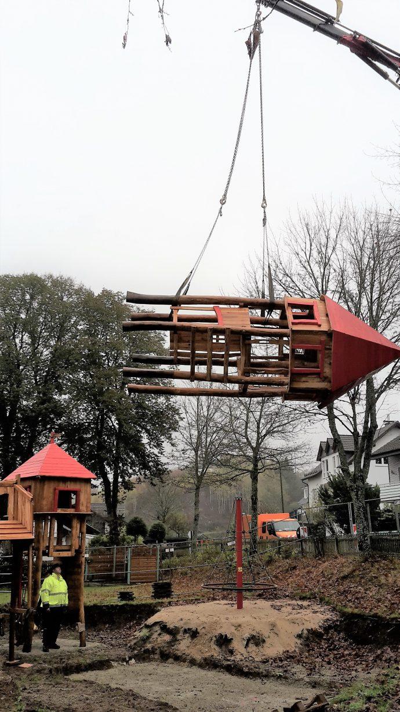 Bauphase Spielplatz Oberveischede