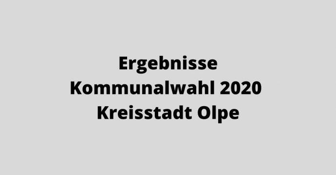 Ergebnisse KOmmunalwahl 2020 - Kreissstadt Olpe