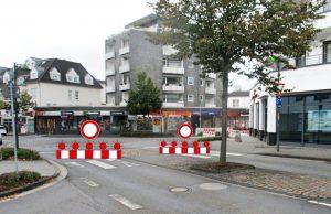Baustelle Kreisverkehr Martinstraße