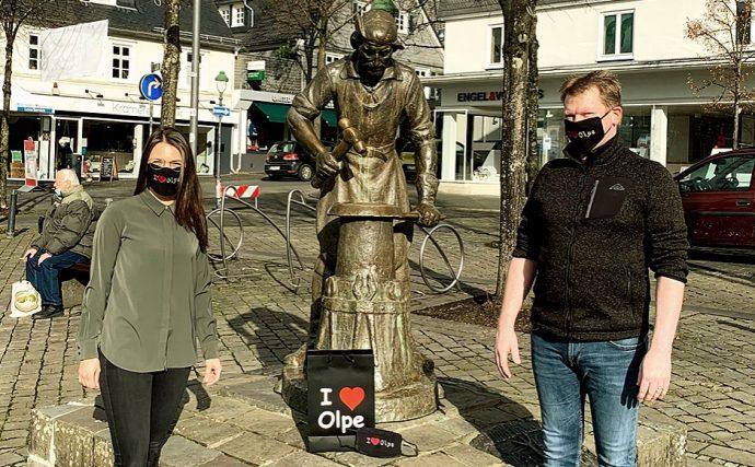 I love Olpe Schutzmasken