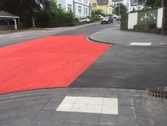 Markierung Imbergstraße Olpe