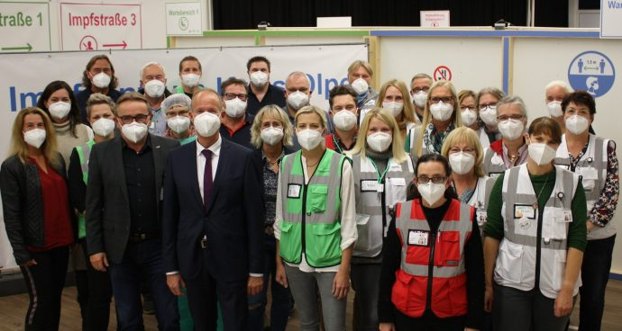Team des Impfzentrum Kreis Olpe 2021